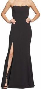 Dress the Population Ellen Strapless Black Gown